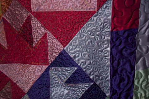 ITEM 001 (Stitching Detail 1) - Handcrafted Quilt by Jeanine Smith