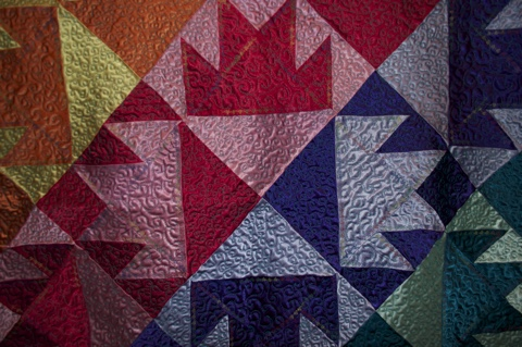 ITEM 001 (Stitching Detail 2) - Handcrafted Quilt by Jeanine Smith