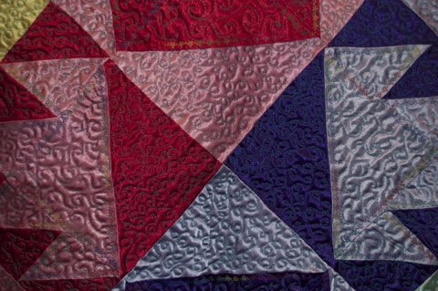 ITEM 001 (Stitching Detail 3) - Handcrafted Quilt by Jeanine Smith